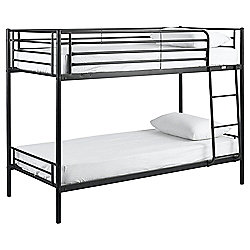 Mika Twin Bunk Bed Frame, Black
