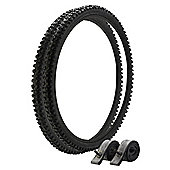 "Tesco 26"" x 1.95"" MTB Tyre and Tube Set"