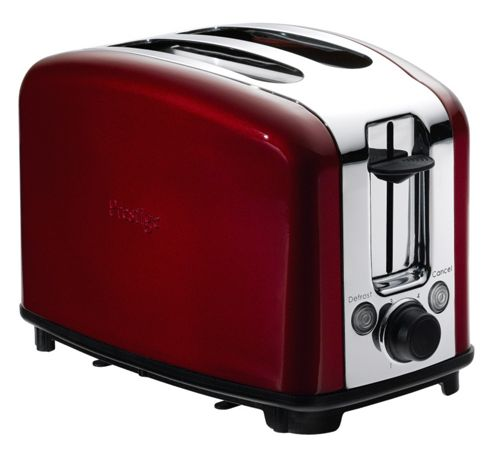 Meyer Prestige 54007 Traditional 2 Slice Toaster - Red