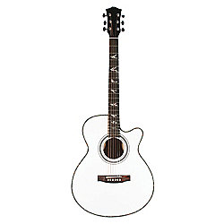 Martin Smith W-401E Electro Acoustic Guitar with Cutaway - White