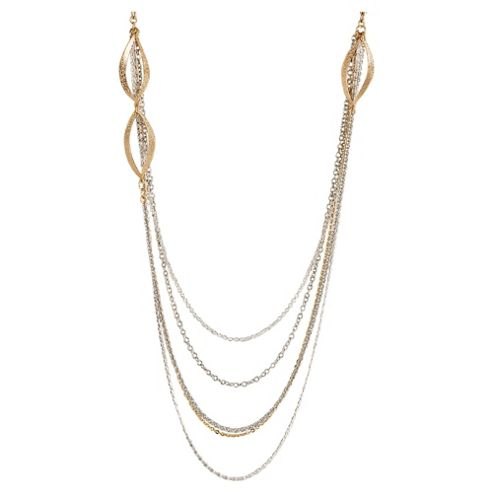 Elspeth Gibson Multi Gold Chain Necklace