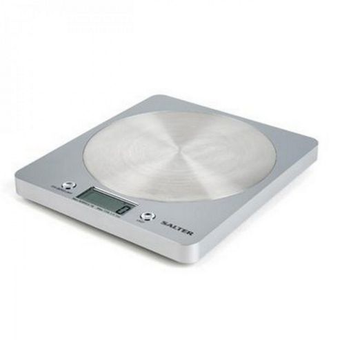 Salter Disc Electric Scales Silver
