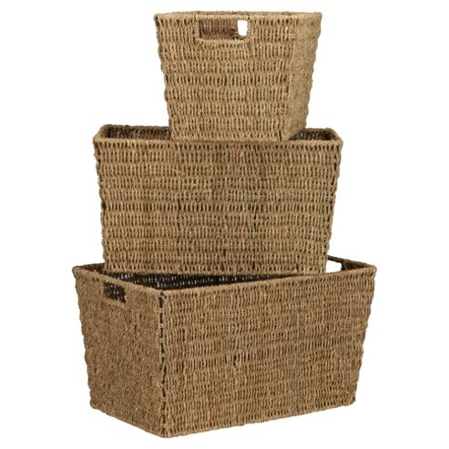 Tesco Seagrass Baskets, Set of 3
