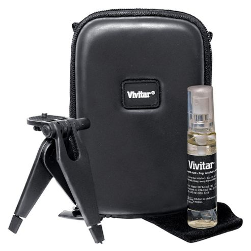 Vivitar Camera Starter Kit (black camera case, with mini tripod)