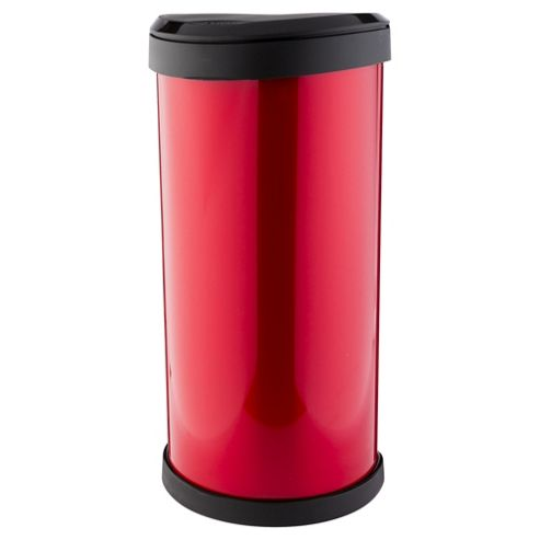 Curver 40L Deco One Touch Bin Red