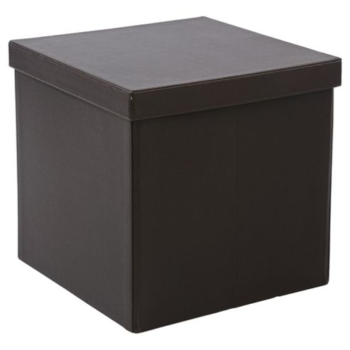 Tesco Faux Leather Collapsible Cube