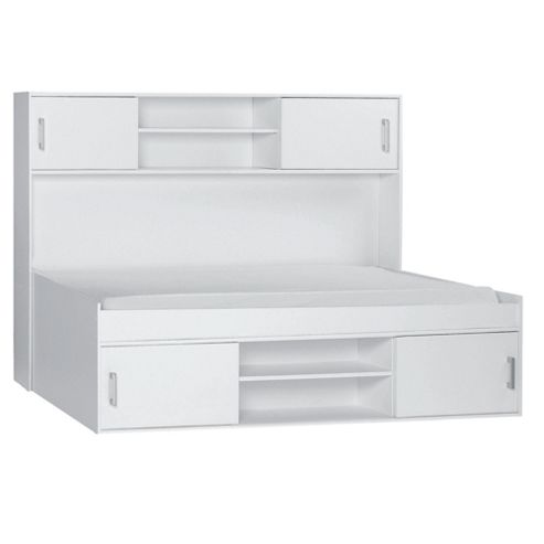Fresno Overbed Storage, White