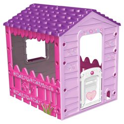 Tesco Plastic Playhouse Pink/Purple