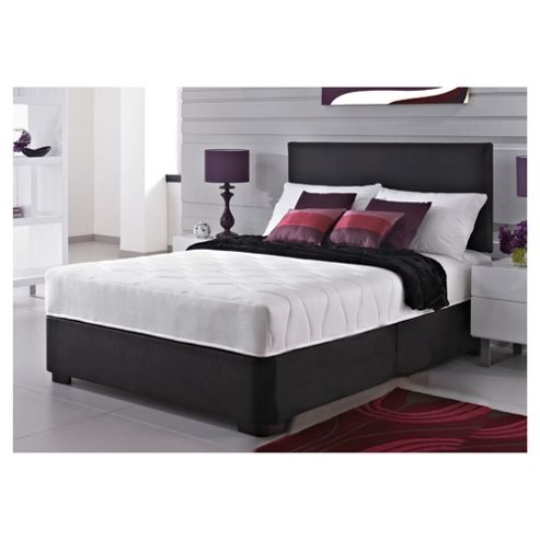 buy silentnight maxima bed black faux leather divan bed