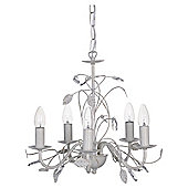 Tesco Lighting Ashley 5 Light Floral Ceiling Fitting