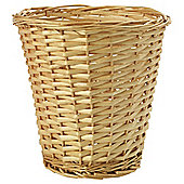 Tesco Basic Value Wicker Waste Paper Bin Honey Colour