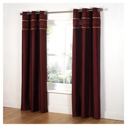Tesco Chenille Stripe Lined Eyelet Curtains W163xL137cm (64x54