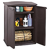 Keter Rattan Effect Low Garden Utility Shed