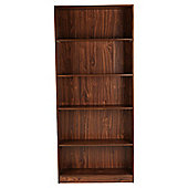Fraser 5 Shelf Wide Bookcase, Walnut-Effect