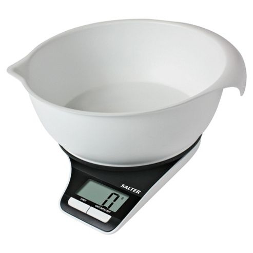 Salter Electronic Platform Scale with 3kg Mixing Bowl