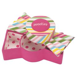 Multi Stripe Sweetie Trinket Box