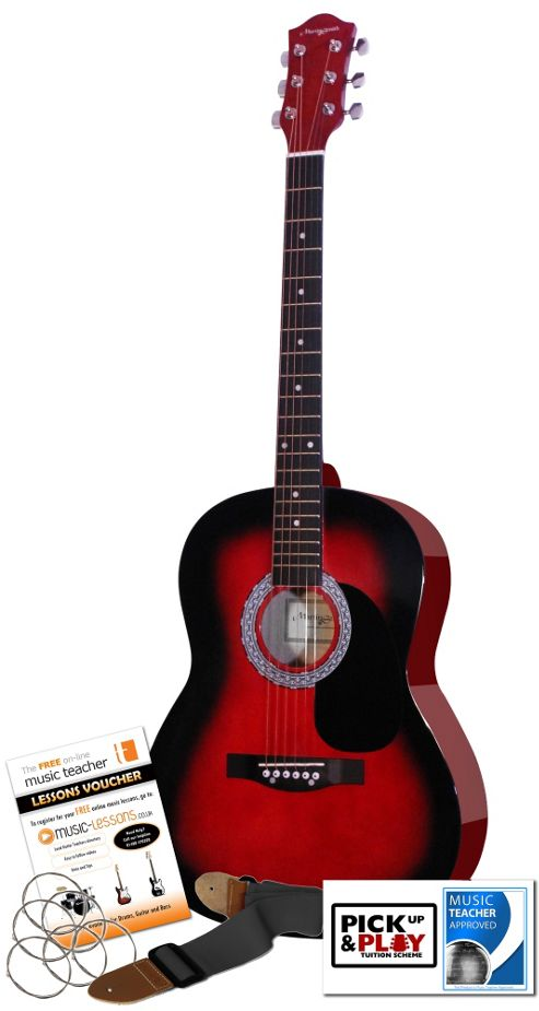 Martin Smith Acoustic Guitar Kit W100 Red