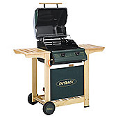 Outback Trooper 2 Burner Gas BBQ with Cover