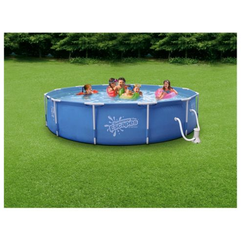 Tesco 12Ft X 30Inch Steel Framed Pool with Pump