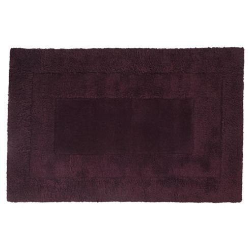 Tesco Rugs Tiered Wool Rug, Plum 120x170cm