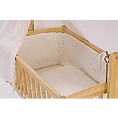 Clair De Lune Dimple Rocking Cradle Quilt and Bumper Set - White - Brown