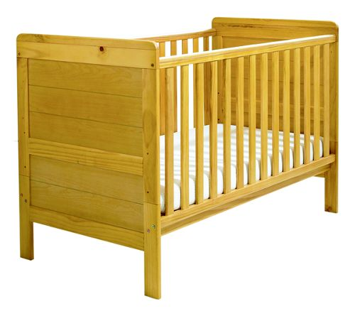 East Coast Colby Cot Bed, Natural
