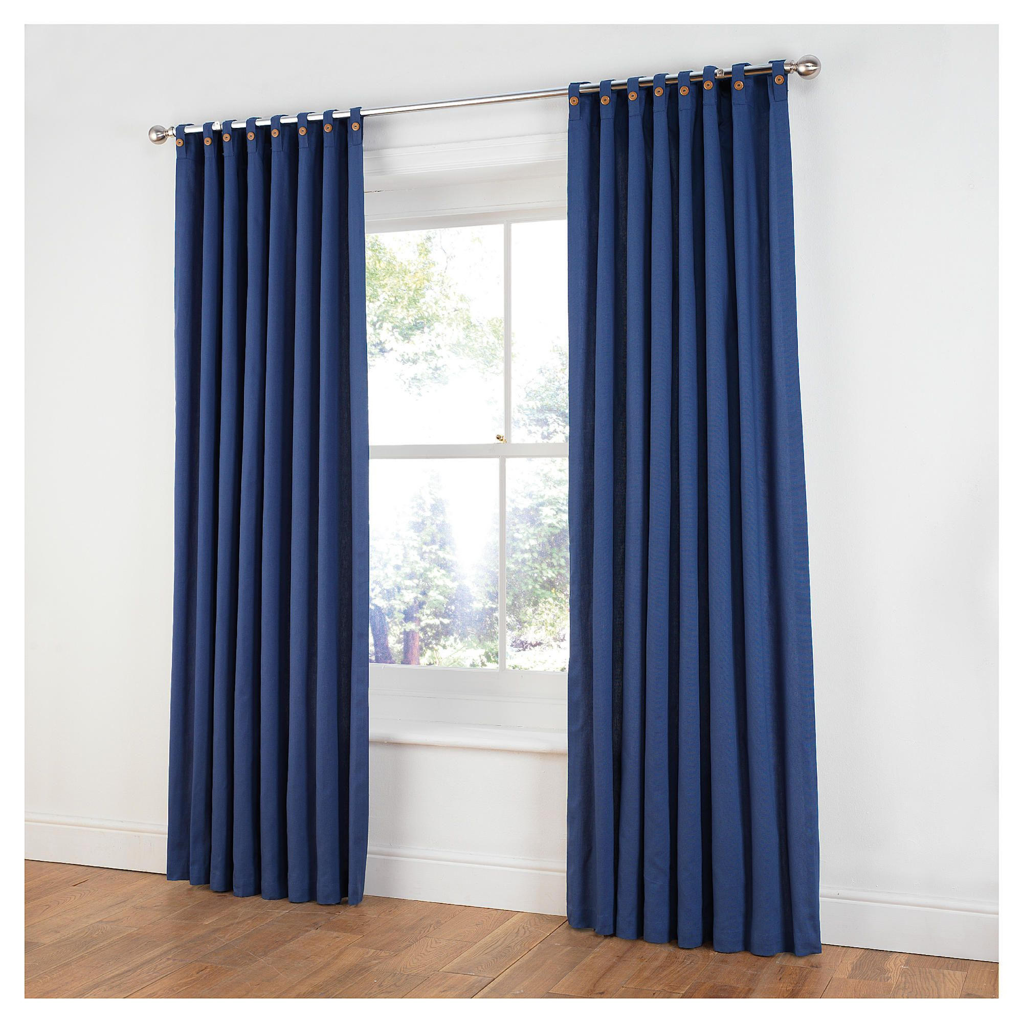 Light blue bedroom curtains - Tesco Navy Blue Curtains Curtain Designs