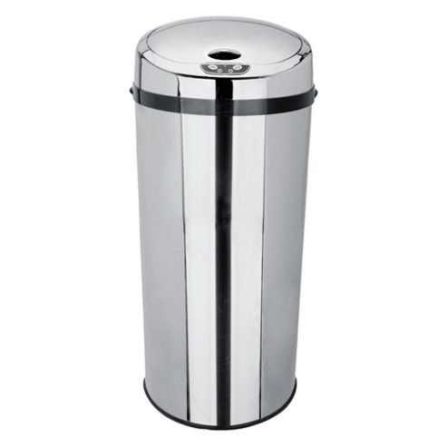 Tesco 33L Stainless Steel Sensor Top Open Kitchen Bin