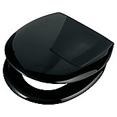 Croydex Anti-Bacterial Slow Close Plastic Toilet Seat Black