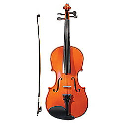 Windsor Full Size 4/4 Student Violin Outfit with Zipped Case & Shoulder Strap - M-1006
