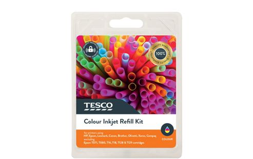 Tesco Refill Printer Ink Cartridge Kit Colour