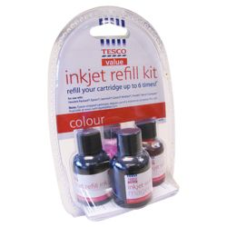 Tesco Value Colour Cartridge Ink Refill Kit (Compatible with printers using HP, Epson, Lexmark, Canon, Brother, Xerox, Compaq cartridge)