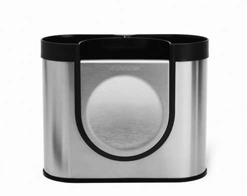 simplehuman Utensil Holder in Brushed Stainless Steel