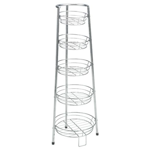 Tesco 5 Tier Chrome Plated Vegetable Rack