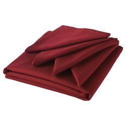 Tesco Tablecloth & Set of 4 Napkins, Burgundy