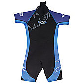 TWF Wetsuit Shortie Kids' age 13/14 Bright blue