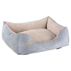 Scruffs faux suede pet bed medium blue