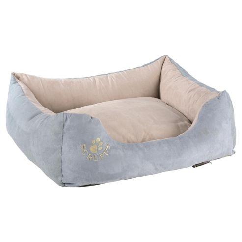 Scruffs faux suede pet bed medium blue