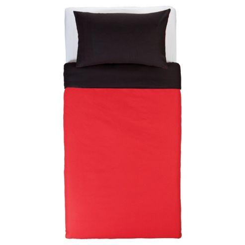 Tesco Red & Black Reversible Duvet Set