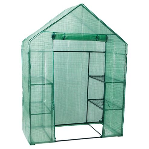 Tesco Compact Walk In Growhouse with Metal Frame & Plastic cover