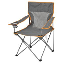 Tesco Airflow Folding Camping Chair, Grey Extra Large