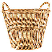 Tesco Basic Wicker Large Round Basket, Honey