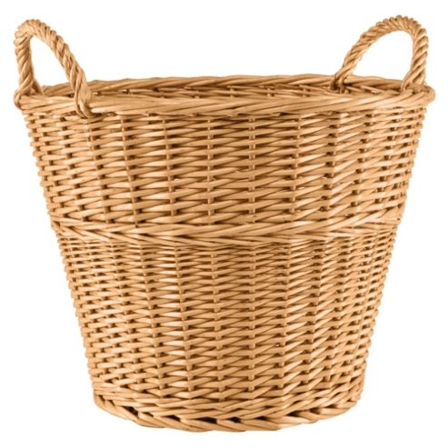 Tesco Basic Wicker Large Round Basket Honey Colour