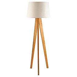 Buy Tesco Lighting Tripod Wooden Floor Lamp From Our Floor Lamps Range Tesco
