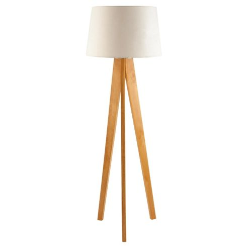 Tesco Lighting Tripod Wooden Floor Lamp