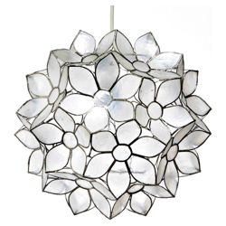 Tesco Lighting Capiz Blossom Pendant
