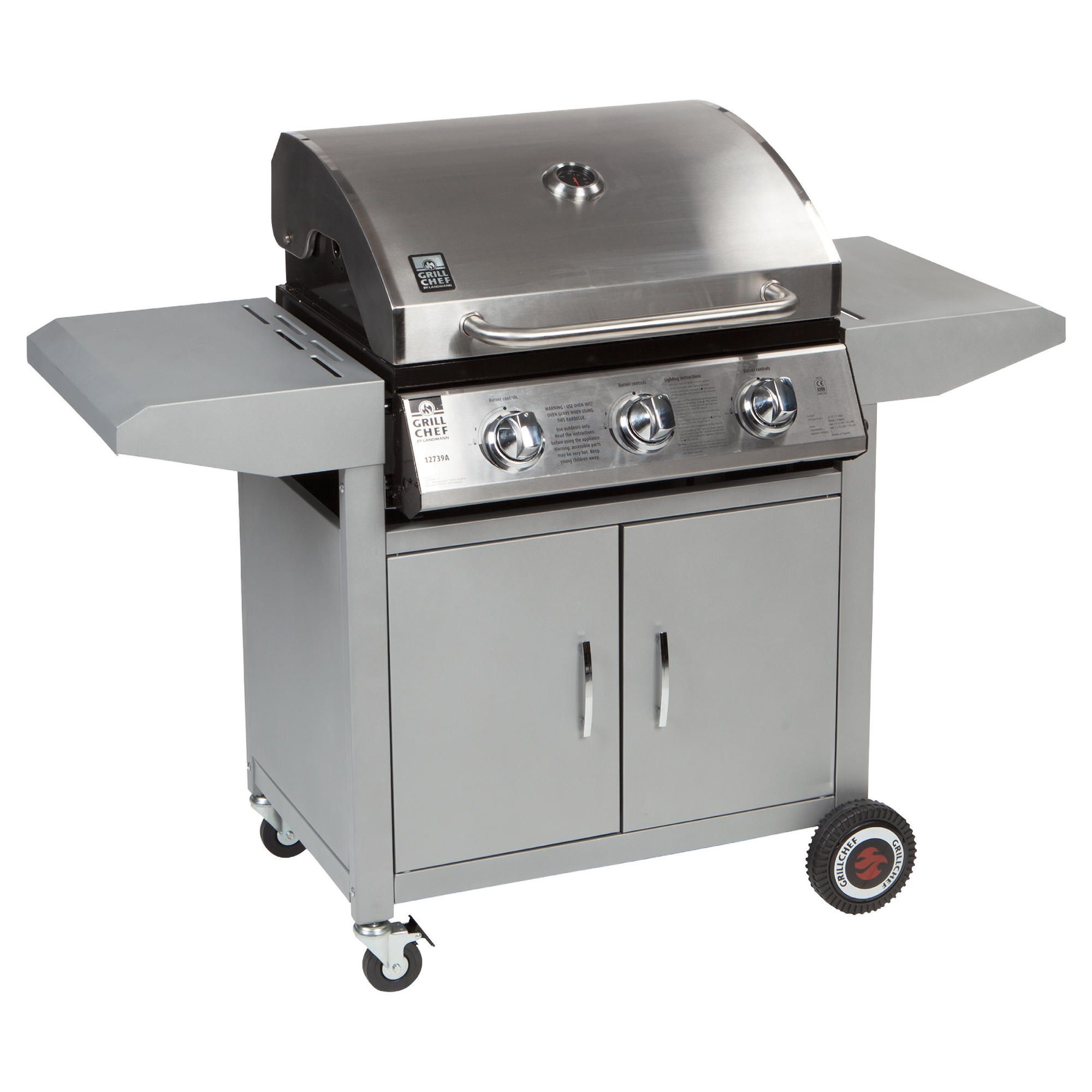 Landman 3 Burner Gas BBQ at Tesco Direct