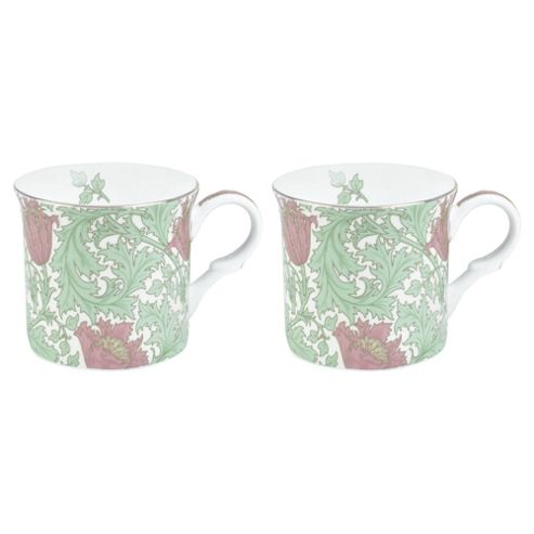 V&A 2 Pack Anemone Green Mugs