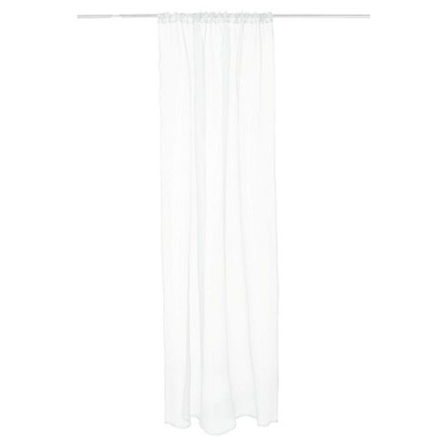 Tesco Plain Voile Channel Top Curtains W137xL229cm (54x90