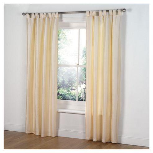 Tesco Taffetta Lined Curtains tab top W117xL183cm (46x72